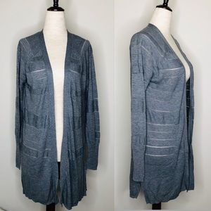 Mossimo Light Weight Open Front Gray Cardigan
